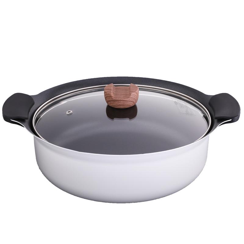 吹きこぼれにくい鍋 27cm卓上アルミ鍋  GYウッド