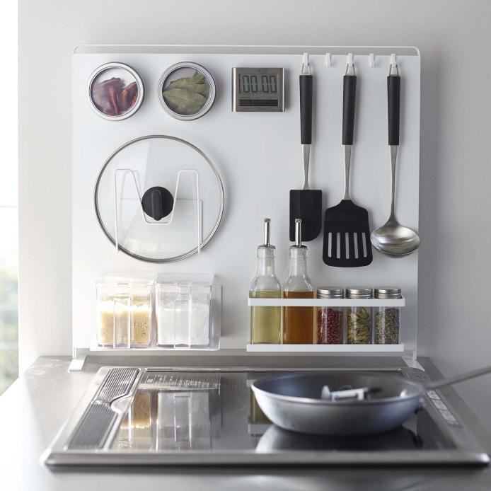 キッチン自立式スチールパネル タワー縦型WH