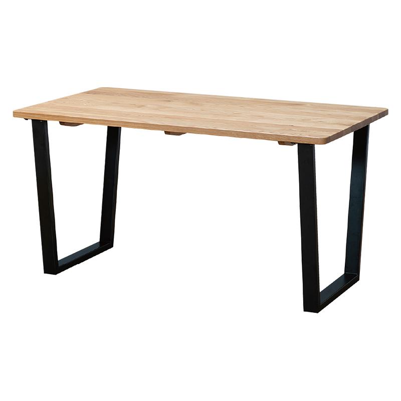ダイニングテーブル SAMANTHA3 135~180TOP OAK+アイアンTR BK