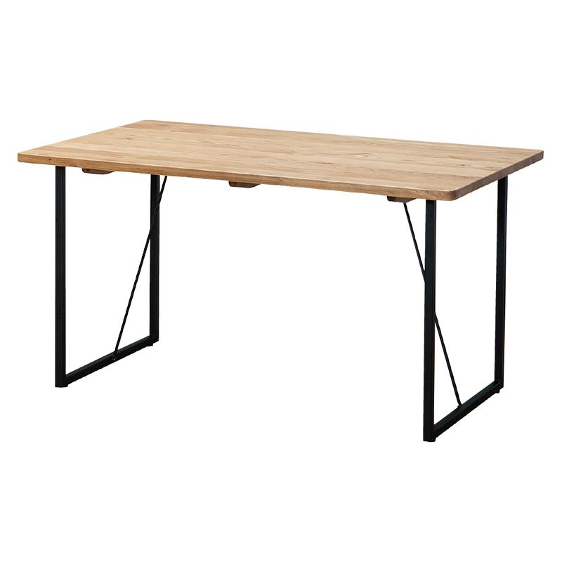 ダイニングテーブル SAMANTHA3 135~180TOP OAK+SQ BK